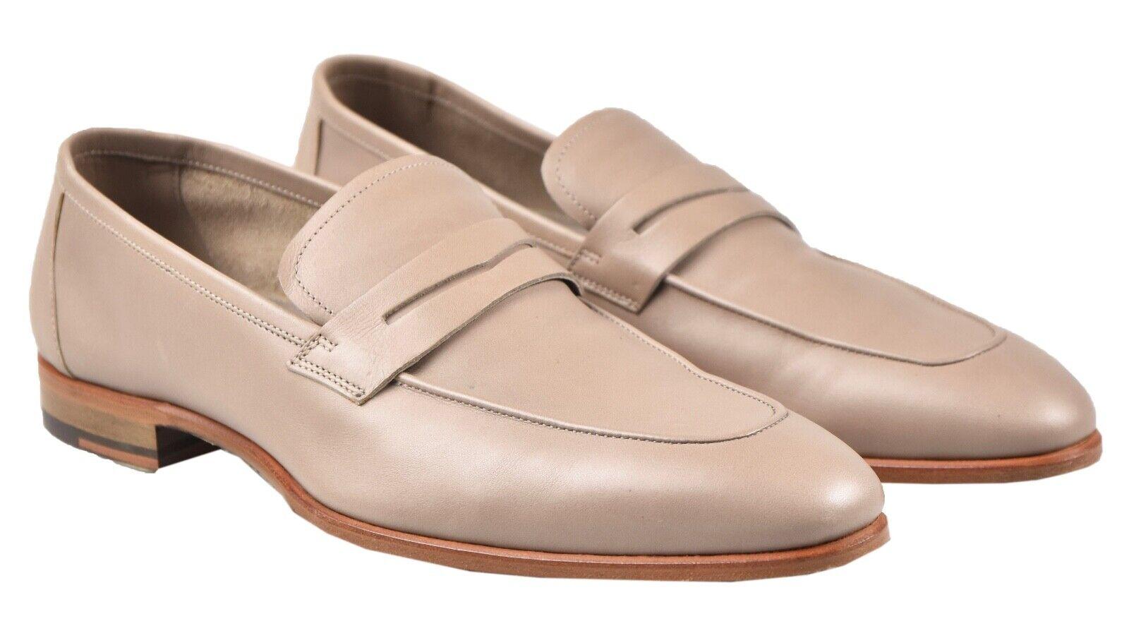 NEW KITON LOAFERS scarpe 100% LEATHER SZ 6 US 39 EU 19O128