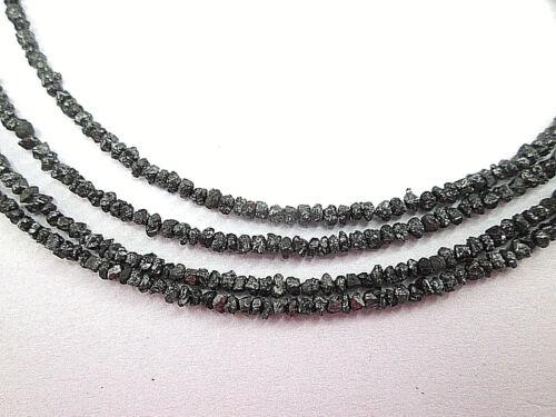 2.00 CTS NATURAL UNCUT BLACK DIAMOND ROUGH BEADS LOT 2.00-3.00 MM