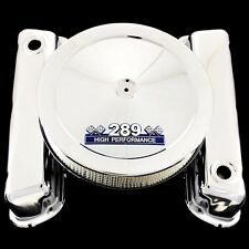 chrome 289 valve cover and 289 emblem air cleaner combo fits ford 289 engines