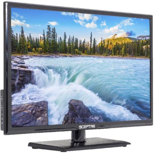"No Tax Black Sceptre 24/"" inch Led HDTV Display 1080P Full HD Hdmi Vga Usb"