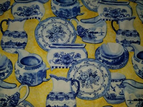 VINTAGE CHINA PLATE TEA POT CUP BATH ROYAL BLUE HAND TOWEL SET 2 CUSTOM