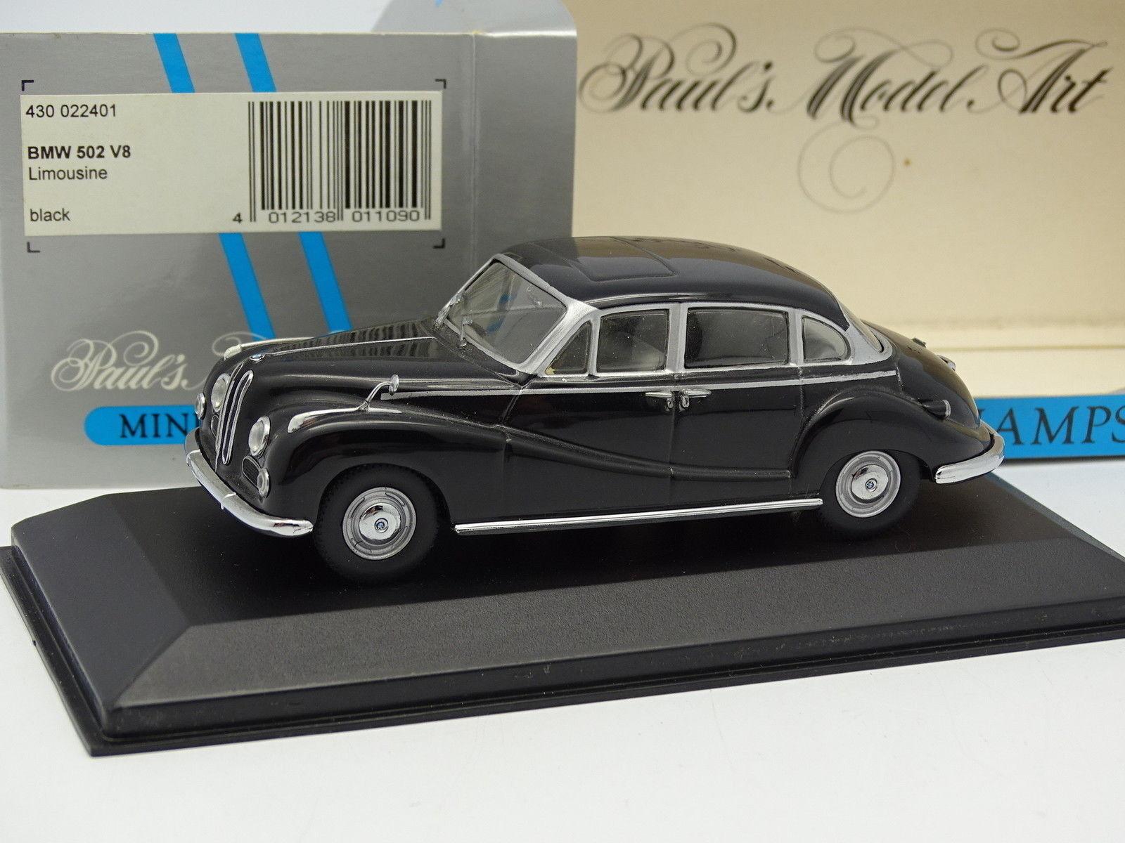 Minichamps 1 43 - BMW 502 V8 Noire