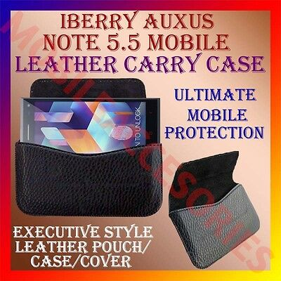 ACM-HORIZONTAL LEATHER CARRY CASE of IBERRY AUXUS NOTE 5.5 MOBILE POUCH COVER