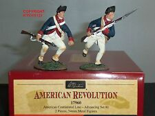 BRITAINS 17960 AMERICAN CONTINENTAL LINE INFANTRY ADVANCING TOY SOLDIER SET 1