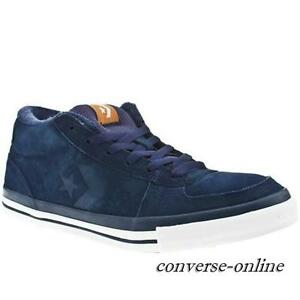 Converse skate pelle scamosciata blu TG.42