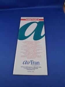 TIMETABLE-AIR-TRAN-AIRWAYS-JUNE-1999-AIRLINE-TRAVEL-ADVERTISING-PLANES