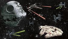 STAR WARS SHIPS XL WALL MURAL Prepasted Wallpaper Death Star Bedroom Decorations