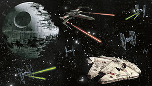 Star wars ships xl wall mural prepasted wallpaper death for Death star wall mural