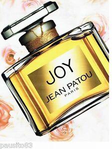 PUBLICITE ADVERTISING 116  2002   Joy  parfum par Jean Patou