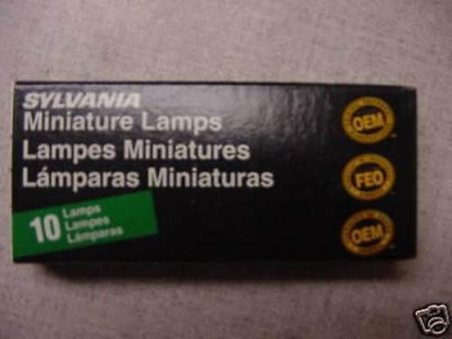 BOX OF 10 SYLVANIA 757 MINIATURE INCANDESCENT LAMPS