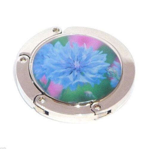 Diseño Floral Azul Intenso Bolso De Mano Colgador xhbh 04