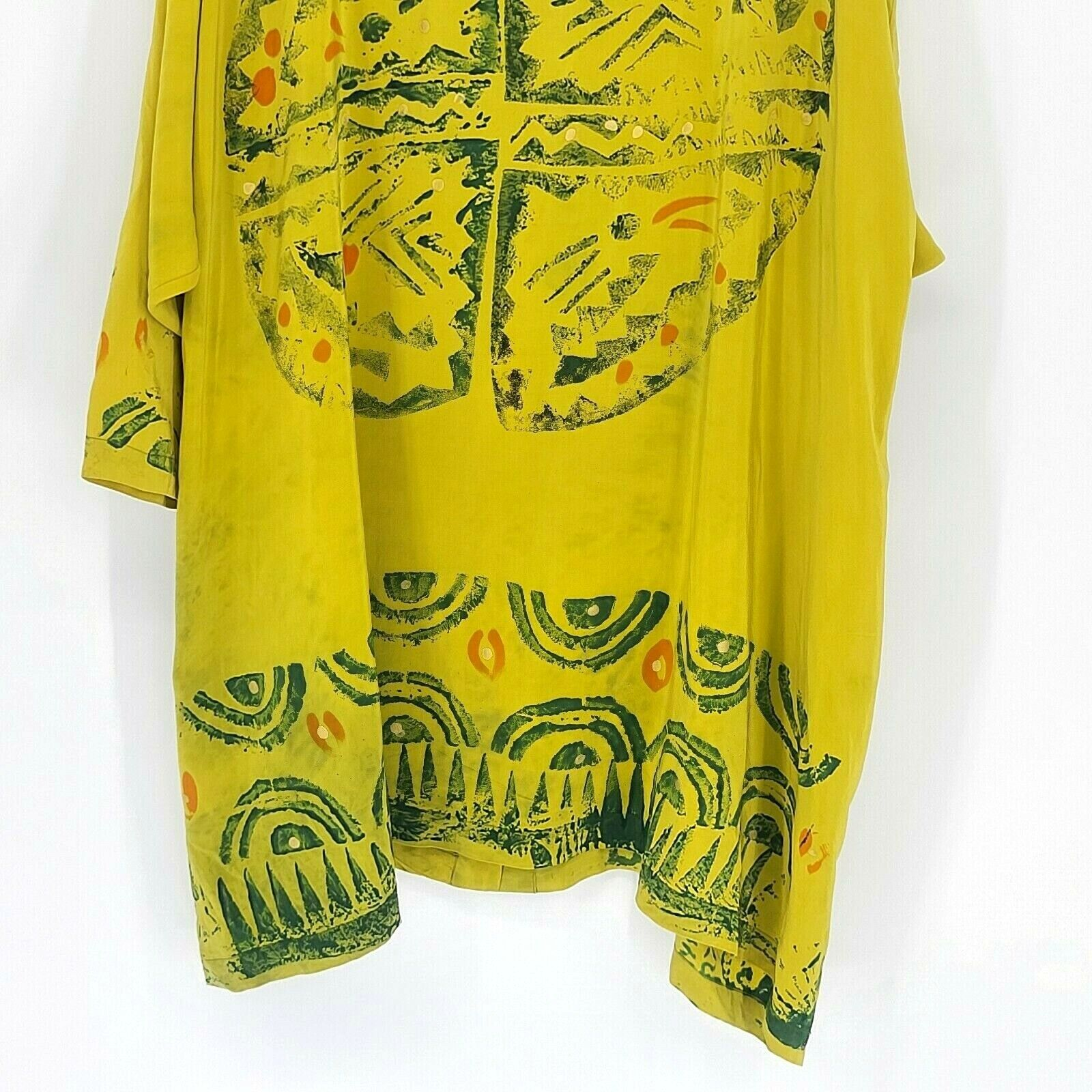 Laise Adzer Womens Vintage 1980's Hand Painted Si… - image 10