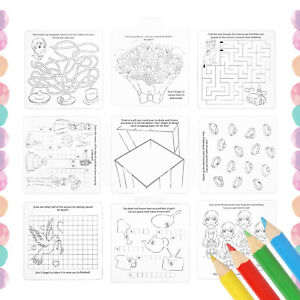Kids Wedding Activity Pack Party Favour Colouring Books Crayon