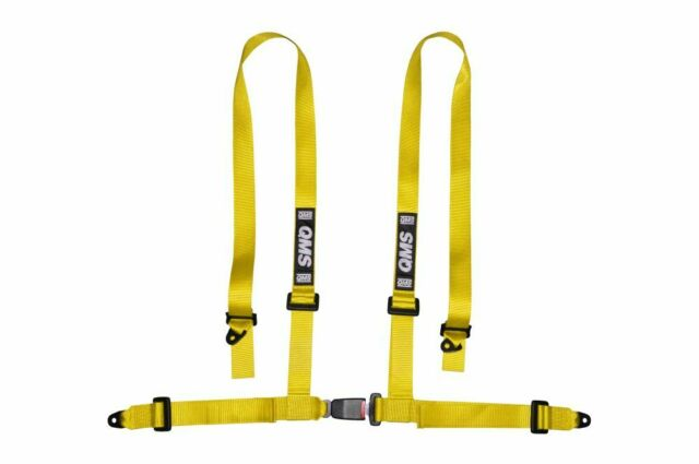 Snap Hook Road Legal ECE Approved 2 x TRS Clubman 4 Point Harness BLACK