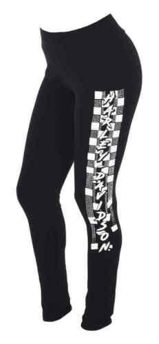 Black Harley-Davidson Women/'s Speed Thrills Embellished Graphic Leggings