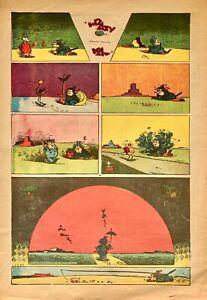 100% De Qualité George Herriman Krazy Kat Épisode Imprimé En Couleurs (1943) New York Journal Haute Qualité