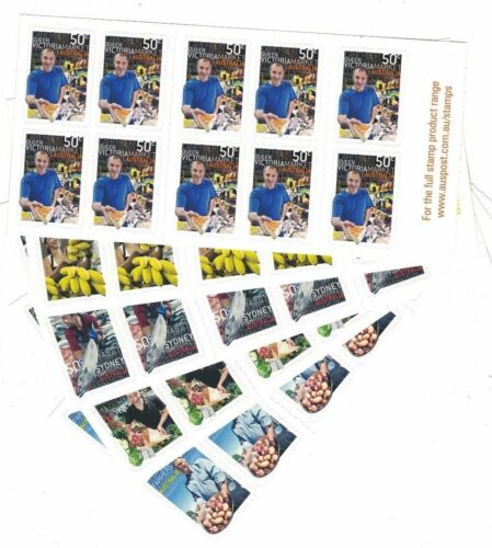 2007 Australia Markets unfolded booklets set 5 SG SB 24448 muh
