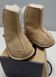5e48ded1179 Details about UGG Australia BOO 5206 Sand Infant Shoes NEW Size S SMALL  Baby Booties 6 -12 mos