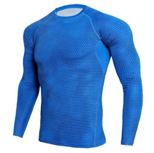 Men/'s Athletic Compression Training Gym Long Sleeve Fitness Sports Outdoor Shirt