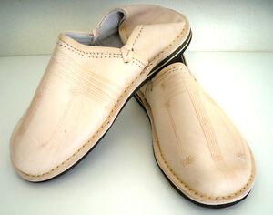 Babouche Marocaine cuir n1 cousues chaussure chausson pantoufle