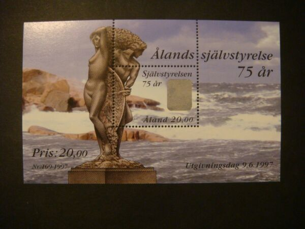 Aland 1997 - 75th Anniversary Of Indipendence Ms Mnh