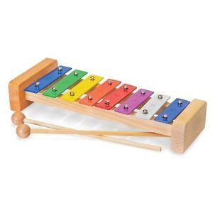 8 Notes Bois Xylophone - Instrument Musical Enfants Musique Jouets Éducatifs