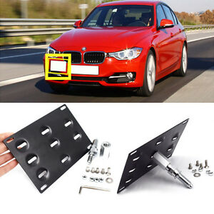 Front-Bumper-Tow-Hook-License-Plate-Mount-Bracket-Holder-For-BMW-1-3-5-X5-X6-New