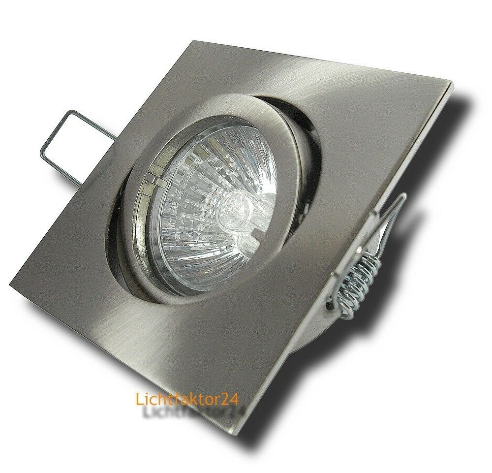5x Halogenstrahler Einbauleuchte Dario 230V Spots Lampe. HV Downlights - dimmbar