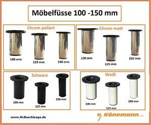 Möbelfüsse Möbelfuss Möbelbein Möbelbeine Schrankfuss 100 150mm 4