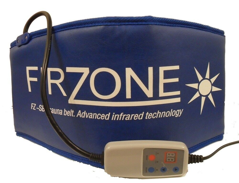 Firzone sauna belt slimming toning far infraROT sweat belts portable wrap Blau