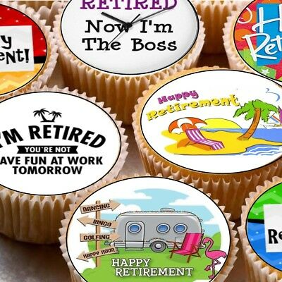 Personalised Edible Retirement Cake Topper Icing or Wafer Paper