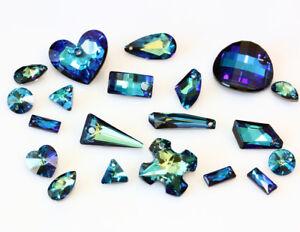 Image is loading Genuine-SWAROVSKI-Crystal-Bermuda-Blue-Color-Pendants-Many- e2765221ef