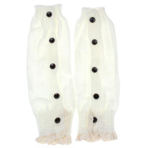 Toddler Baby Kids Girl Crochet Knit Splice Socks Boot Cuffs Leg Warmer Stockings
