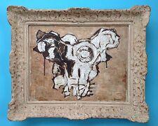 Gino GREGORI Tableau Rare HSC huile Signée 1955 +Cadre Picasso Magnelli Braque