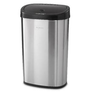 Kitchen-Trash-Can-13-2-Gallon-Stainless-Steel-with-Motion-Sensor-Hands-Free-Open