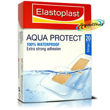 Elastoplast Aqua Protect Waterproof Strong Adhesion 20 Strips Wound Plasters