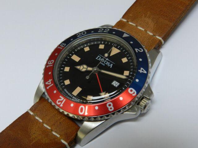 davosa gmt  DAVOSA Ternos Vintage Diver GMT Quartz 39mm Swiss for sale online | eBay