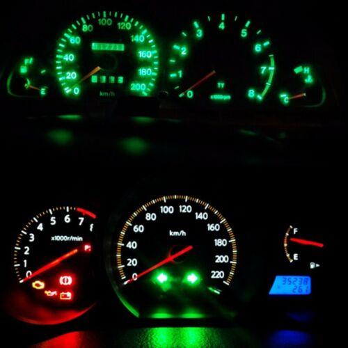 10x T5 W3W W1.2W 27 74 Dashboard Gauge 3030 3LEDs Instrument Guage bulbs Green