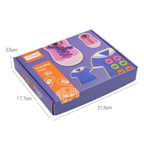 Details about  /Wooden Lace Up Shoe Learn to Tie Threading Shirt Educational Kids Toy Gift New