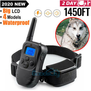 Dog Training Shock Collar With Remote Bark Collar Electric Pet Dogs Waterproof