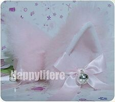 Hot Sweet Lovely Anime Lolita Cosplay Fancy Neko Cat Ears Hair Clip Pink With