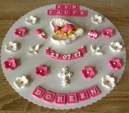 Baby Taufe Geburt Tortendeko Fondant Tortenaufleger Tortendekoration Geburtstag