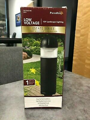 2-Pack Low-Voltage 20-Watt Black Outdoor Halogen Bollard Landscape Path Light