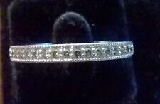 Beautiful Vanna K 925 Sterling CZ Band Ring Size 9 Wedding Anniversay