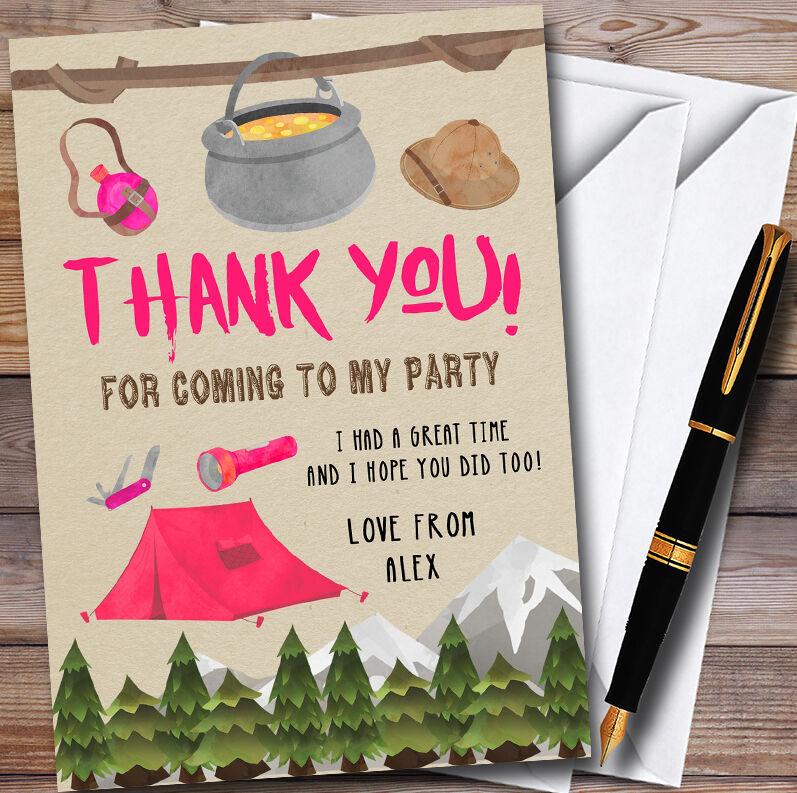 Outdoor Campeggio Ragazze Ragazze Ragazze Personalizzato PARTY CARTOLINE di ringraziamento 32ba60