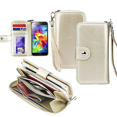 Galaxy S6 Case S6 Edge Plus S5 Note 5 Wallet Leather Cover Magnetic for Samsung