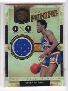 2011-Bernard-King-299-Jersey-Panini-Gold-Standard-Pistons-Gold-Mining