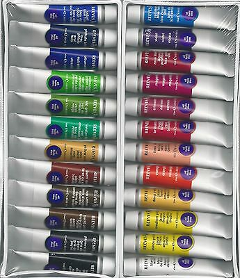 REEVES 24 PIECE OIL PAINT SET WITH 3 WHITE NYLON BRUSHES