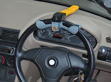 Nuevo coche Amarillo /& Van Seguridad Anti Robo Rotary del volante bloqueo abrazadera cubierta