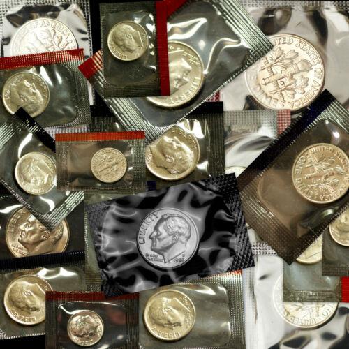 1990 1991 1992 1993 1994 1995 1996 1997 1998 1999 P+D+W  Roosevelt Mint Dime Set